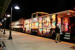 A shot of the Metrolink Christmas train