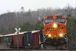 BNSF 7638 Heading West on NS tracks