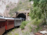 Entering Mud Tunnel. Wooden supports run through-out the 342 foot length.