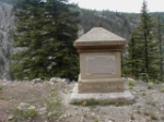 Out of no where, a memorial, to, James Abrams Garfield, 20th President of the U.S. Died from a gunshot wound of an assassin.