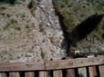A look, straight down, crossing Cascade Trestle.