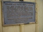 Historical marker on the Chama, N.M. depot.