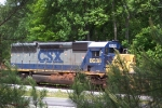 CSX 8038 still with red, Georgia clay from being on her side