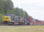 CSX 7308 about to leave Fairburn Intermodal