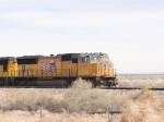 UP 4969 leads in a WB manifest at 11:47am along Hwy 54