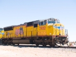 UP 3902 leads a WB stack train at 12:19pm