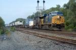 east bound intermodal train runs by wb signals at mp 58