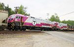 MBTA HSP-46 #2007 and sister #2008 roll throught Chili, NY