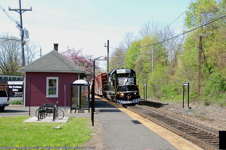 Eastward through the station