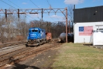 Conrail engine and caboose