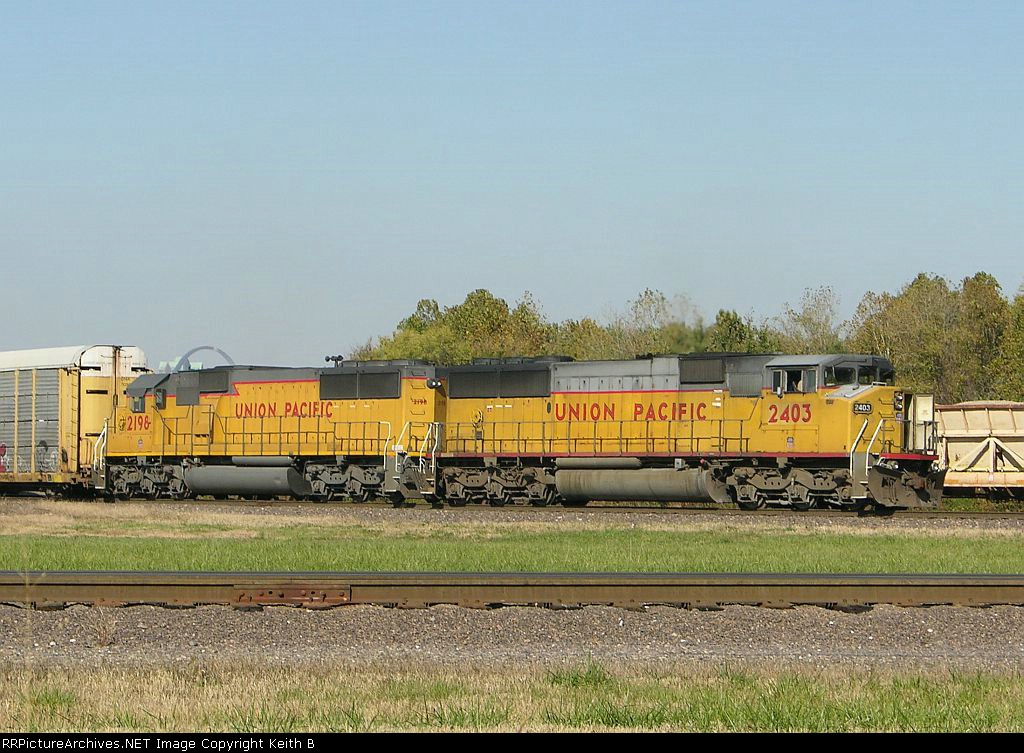 UP 2403 and 2198