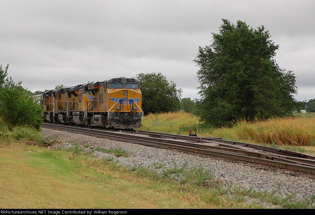 Southbound Union Pacific Railroad Unit Grain Train