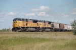 Union Pacific Railroad Unit Grain Train led by EMD SD9043MAC's No. 8285 and No. 8304