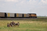 Tail end of a Westbound Union Pacific Railroad Empty Unit Coal Train