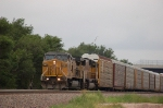 Westbound Union Pacific Railroad Autorack Train