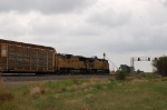 Eastbound Union Pacific Railroad Autorack Train