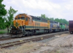 BNSF 6460 leads U MARCFS in Timber Rock Yard