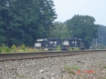NS 3351 & NS 3343 on the ready track to assist a mainline train