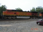 BNSF 4771 trails WB