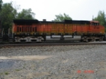 BNSF 5108 is the 3rd unit running long hood forward WB