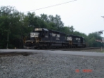 NS 3351 & NS 3343 head WB past Carney's Crossing Rd.