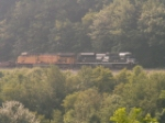 NS 2707 leads UP 7320 EB around the curve