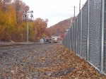 Two trains stopped in Suffern station