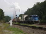 Rear end helpers on eastbound stack train