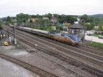 Eastbound Amtrak Pennsylvanian passing Alto Tower