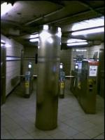 Northbound faregates at 23 Street PATH station