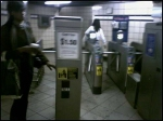 Outbound entrance gate (23 Street PATH station)
