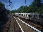Westbound Newark train