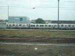 PATH train in storage yard