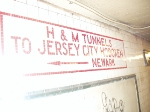 Mosaic sign for Hudson & Manhattan tunnels (now PATH) in 14 Street station