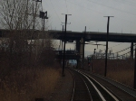Conrail line above the PATH main line