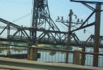 PATH crossing the Hackensack River
