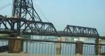 Newark-bound PATH train on Hack Bridge