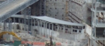 PATH train curves into WTC site