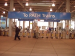 Entrance to trains