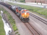 BNSF dash-nine with a tattered cigar band