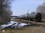 Long Line Of Tank Cars