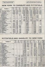 1937 NH Danbury, CT - Pittsfield, MA Timetable