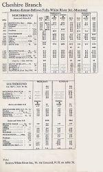 1956 B&M Keene - Montreal Timetable