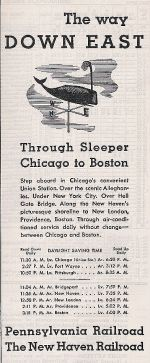1937 NH / PRR Through Sleeping Car Promo