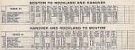 1937 NH Rockland - Hanover Timetable