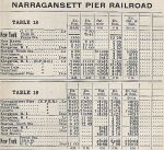 1937 NH Kingston, RI - Narragansett Pier, RI Timetable