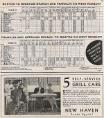 1937 NH West Roxbury - Needham - Franklin Timetable