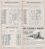 1951 NYC Columbus - Cleveland Timetable
