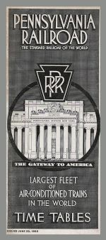 1935 PRR Timetable Cover
