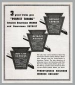 1935 PRR Detroit Trains Promo